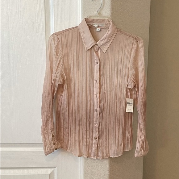 NWT - Coldwater Creek gold blouse